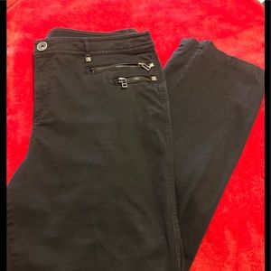 Style & co black double zip pocket look  pants